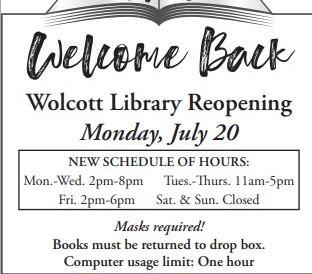 Wolcott Public Library is Open!